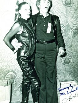 Mistress Antoinette with Doug Malloy at the Gauntlet studio grand opening in 1978